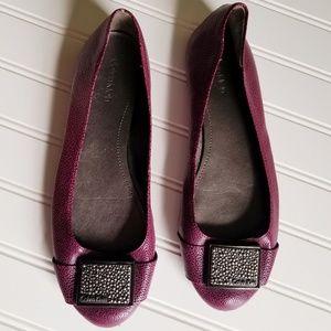 Calvin Klein Raysana Flats Size 9.5  Leather Upper
